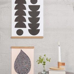 By WIRTH WALL STICKS - Posterlijst van eiken 50cm (6)