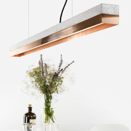 GANT lights C1 - GANTlightsC1langwerpige hanglamp van beton en koper. Door de combinatie van beton en koper ontstaat enn eleganten sfeervol design.