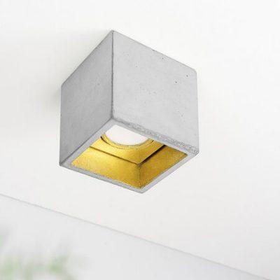 GANTlights B7, GANT lights B7 plafondlamp spot beton lichtgrijs GOUD