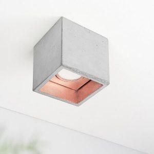 Gantlights B7 plafondlamp_ Lichtgrijs-KOPER