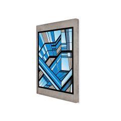 Urban Fragments-Lyon Beton-Bamock- BLUE LINEA Print op beton
