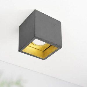 Gantlights B7 plafondlamp_ Donkergrijs-GOUD