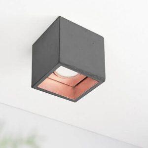 Gantlights B7 plafondlamp_ Donkergrijs-KOPER