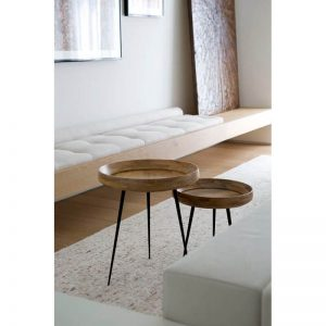 MATER Design BOWL TABLE - houten bijzettafel - Small en Medium