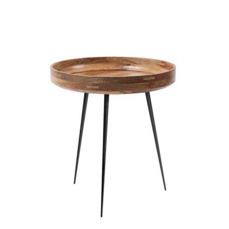 Houten Bijzettafeltje.Mater Design Bowl Houten Bijzettafel Rond M O46 Cm