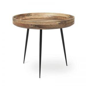 Mater Design BOWL TABLE - Ronde bijzettafel van hout (Large) - NATUREL - 01607
