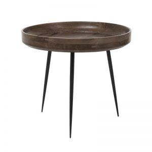 Mater Design BOWL TABLE - Ronde bijzettafel van hout (Large) - SIRKA GRIJS - 01609
