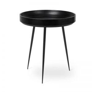 Mater Design BOWL TABLE - houten bijzettafel rond (Medium) - ZWART - 01601
