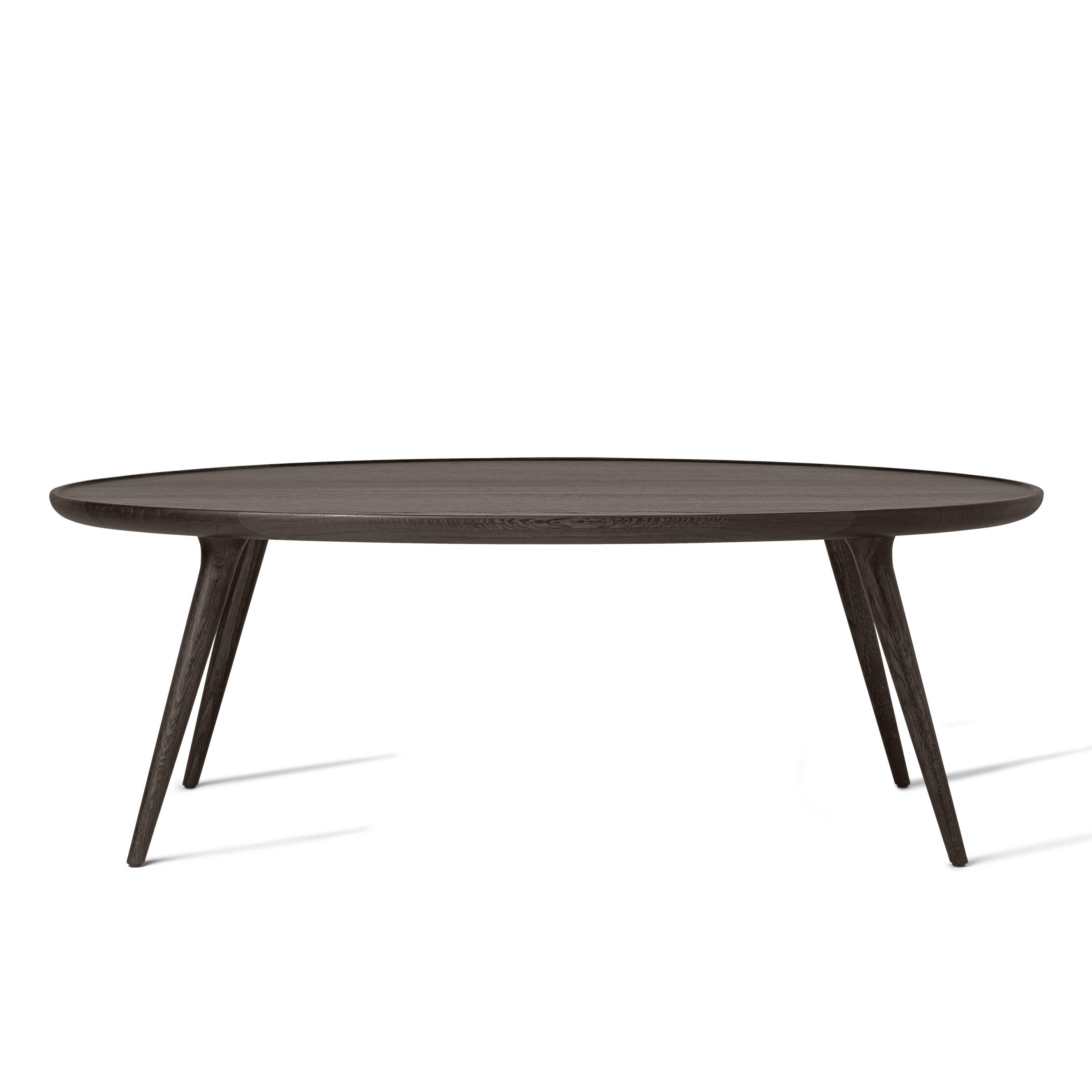 Ovalen Salon Tafel.Mater Design Accent Grijs Eiken Salontafel Ovaal 120x80x42 Cm