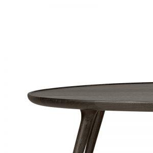Mater Design ACCENT - Ronde eiken eetkamertafel (FSC) - Mat Sirka grijs