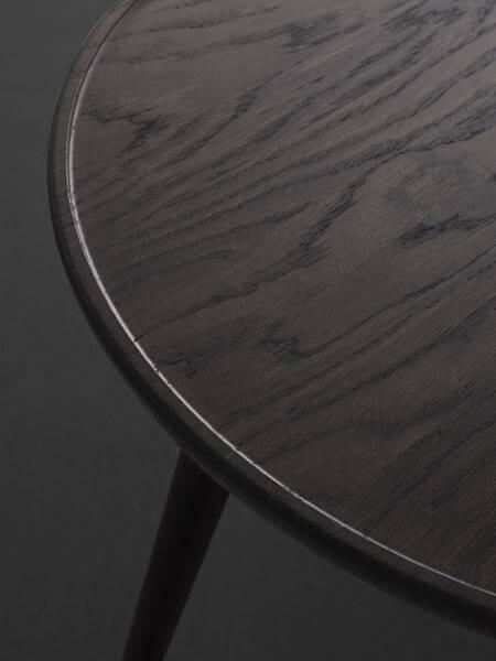Mater Design ACCENT - ronde bijzettafel van donkergrijs eiken (1)