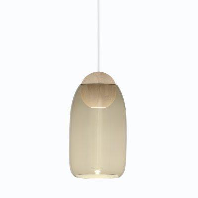 Mater Design - LIUKU BALL Base Hanglamp van hout-Smokey