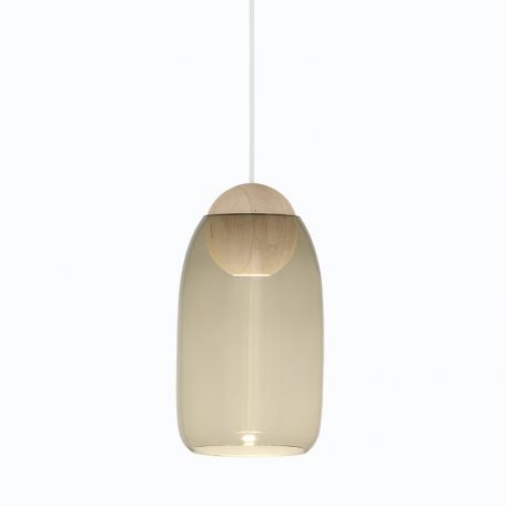Mater Design - LIUKU BALL Base Hanglamp van hout-Smokey