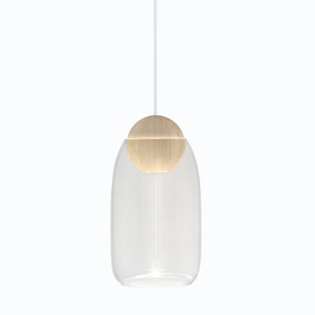 Mater Design - LIUKU BALL Base Hanglamp van hout_Naturel
