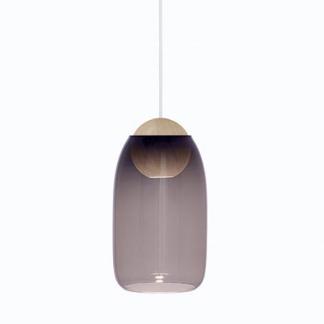 Mater Design - LIUKU BALL Base Hanglamp van hout_Violet