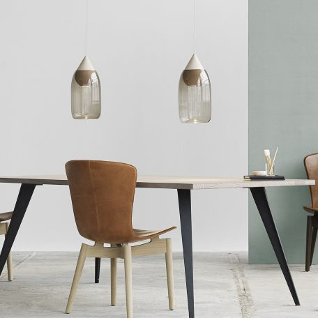 Mater Design - LIUKU DROP Base Hanglamp van hout_Smokey