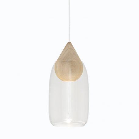 Mater Design - LIUKU DROP Base Hanglamp van hout_Transparant