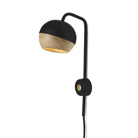Mater Design RAY - zwarte wandlamp van metaal