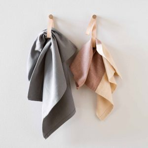 by WIRTH DOUBLE LOOP - leren wandhaak, hanger, ophanglus - Naturel eiken
