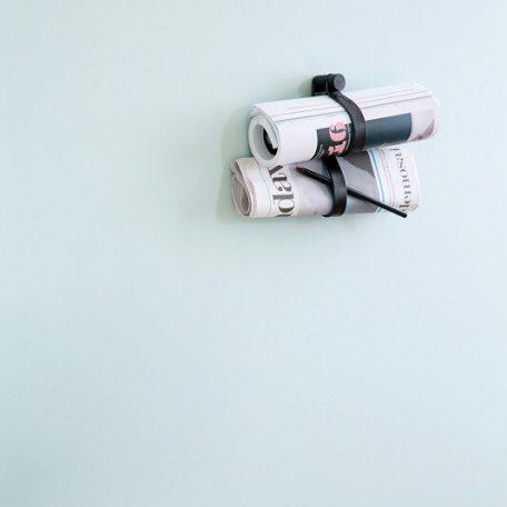 by WIRTH DOUBLE LOOP - leren wandhaak, hanger, ophanglus - Zwart_5
