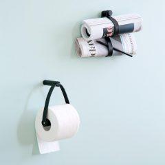 byWIRTH ROLL Toiletrolhouder Zwart eiken en leer