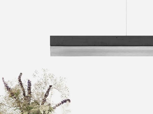 GANTlights C1 - GANT lights C1 hanglamp donkergrijs beton en rvs