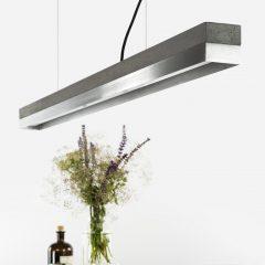 GANT lights C1 - De GANTlightsC1langwerpige hanglamp van beton en RVS / roestvaststaal. Beton is stoer, stijlvol, gebruiksvriendelijk en bovendien mooi!