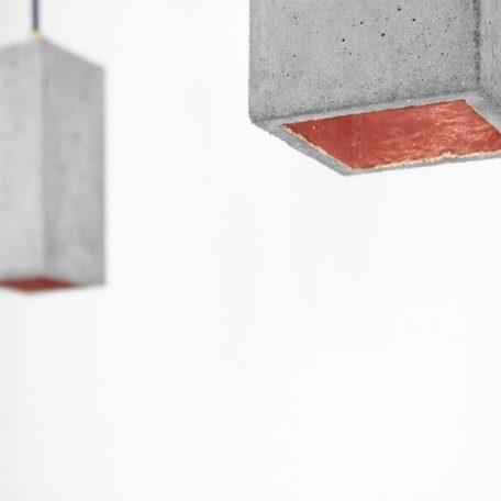 GANTlights GANT lights B2 hanglamp beton lichtgrijs_KOPER