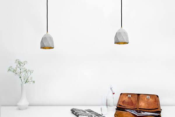 GANTlights T1- GANT lights T1 rechthoekige hanglamp van beton, lichtgrijs