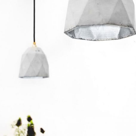 GANTlights T1 Hanglamp Beton lichtgrijs_zilver