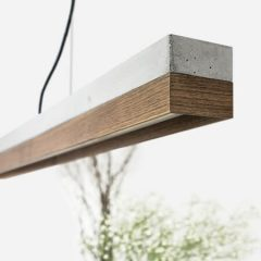 GANTlights C1 hanglamp beton lichtgrijs en walnoot (1)