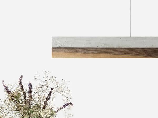 GANTlights C1 hanglamp beton lichtgrijs en walnoot (2)