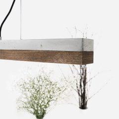 GANTlights C1 hanglamp beton lichtgrijs en walnoot (4)