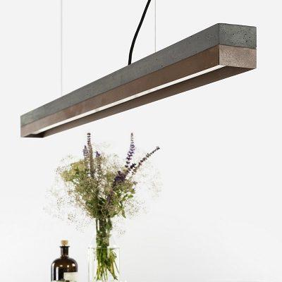 GANTlights C1 - hanglamp van beton en cortenstaal