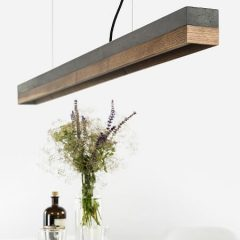 GANTlights C1 hanglamp van donkergrijs beton en walnoot (1)