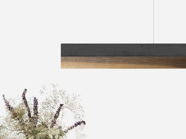GANTlights C1 hanglamp van donkergrijs beton en walnoot (2)