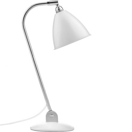 GUBI BL2 tafellamp chroom-wit (Soft White Semi Matt)
