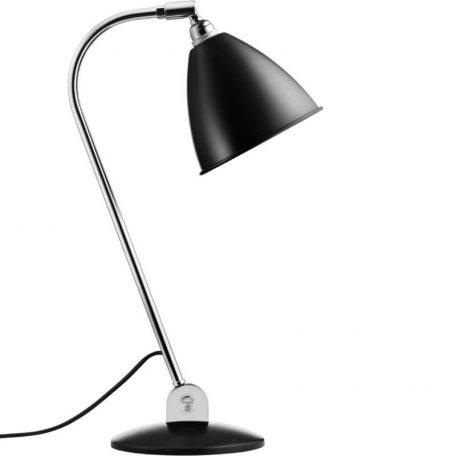 GUBI BL2 tafellamp chroom-zwart (Black Semi Matt)