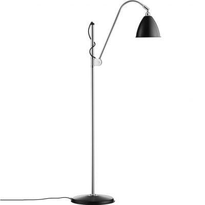 GUBI BL3S vloerlamp Zwart-Chroom
