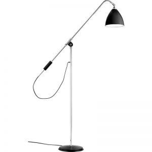 GUBI BL4 vloerlamp - Zwart-Chroom (Black Semi Matt)
