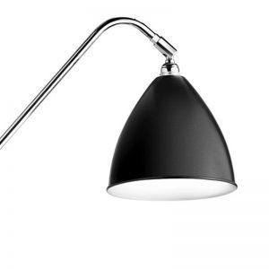GUBI BL4 vloerlamp Zwart_Chroom