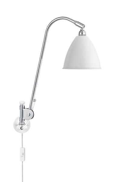 GUBI Bestlite BL6 wandlamp Mat Wit _Chroom