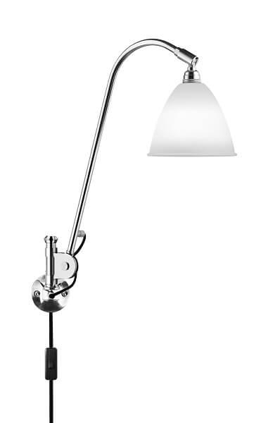 GUBI Bestlite BL6 wandlamp Wit Porselein _Chroom