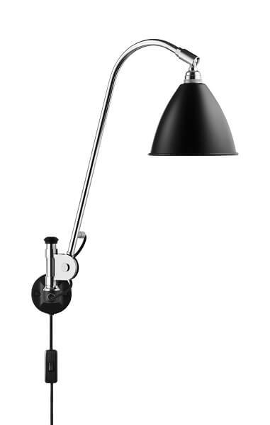 GUBI Bestlite BL6 wandlamp Zwart _Chroom