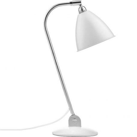 GUBI Bestlite BL2 metalen tafellamp Gebroken Wit -Chroom