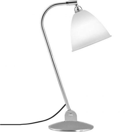 GUBI Bestlite BL2 metalen tafellamp Porselein-Chroom