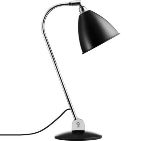 GUBI Bestlite BL2 metalen tafellamp Zwart-Chroom