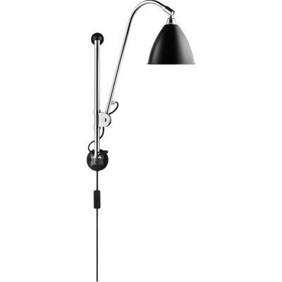 GUBI Bestlite BL5 - GUBI BL5 Wandlamp chroom-zwart (Black Semi Matt)