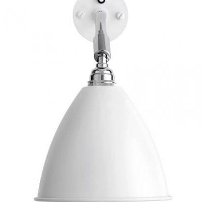 GUBI Bestlite BL7 wandlamp Mat Wit_Chroom