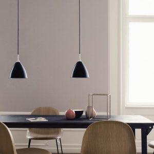 GUBI Bestlite BL9S - Hanglamp 16cm Zwart-Chroom (2)